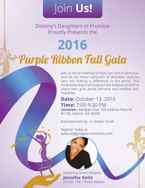 Destiny's Daughter of Promise Purple Ribbon event