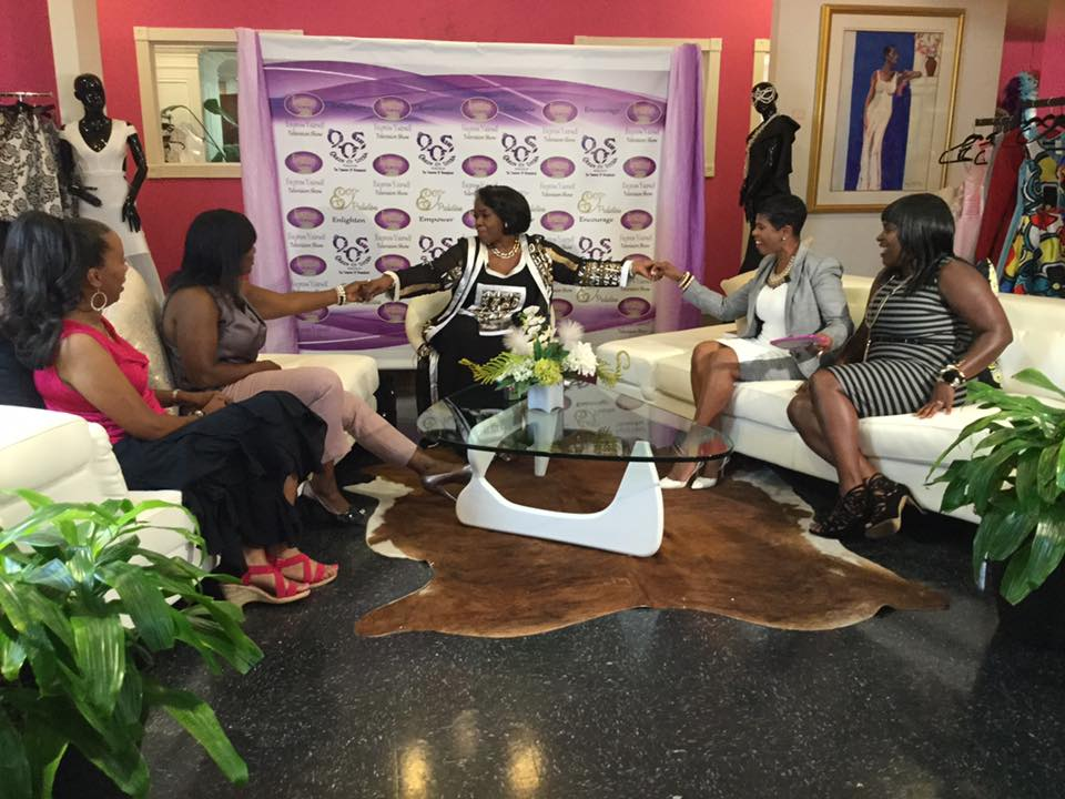 On the set of Express Yourself TV set Hosted by Dr. Daisy at Cause For Elegance