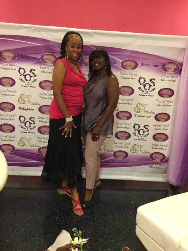Nicole Steele & C Harper at Express Yourself TV set Hosted by Dr. Daisy at Cause For Elegance