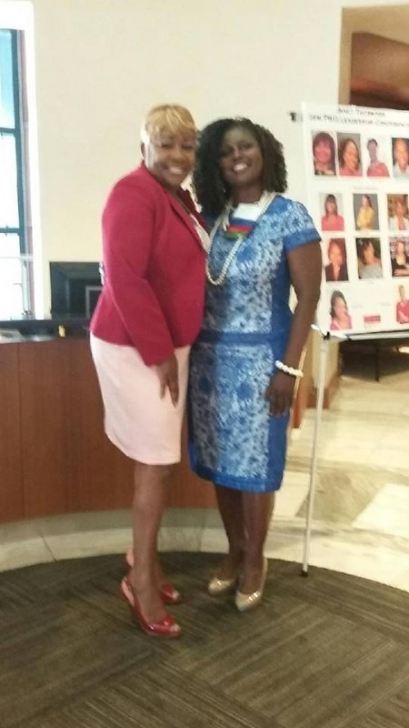 Vivian Carter & C Harper speakers @ Dress For Success Annual Conference